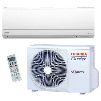 Toshiba Carrier Residential Ductless Highwall Heat Pump System With Base Pan Heater RAS-EAV2/EKV