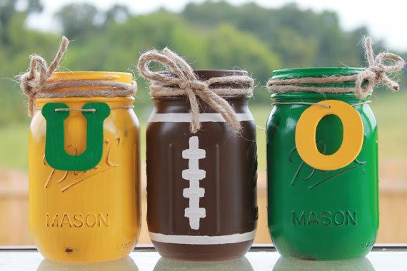 diy game day mason jars
